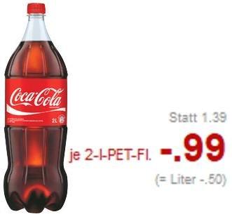 [Nicht alle Filialen!] Kaufland Coca-Cola, Fanta, Sprite oder Mezzo Mix 2l für 0,99 Euro