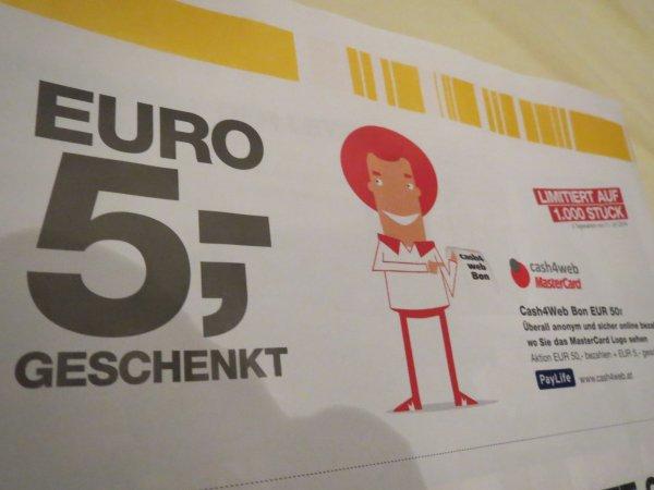 [ÖSTERREICH] 5,-€ Paysafecard geschenkt beim Kauf einer beliebigen PSC