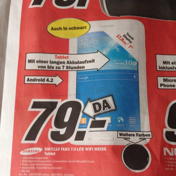 [Media Markt Bremen] Samsung Galaxy Tab 3 7.0 Lite Wifi - 79€ (idealo: 99€)