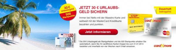 30 + 2.50 Euro geschenkt für gute Mastercard-Kreditkarte