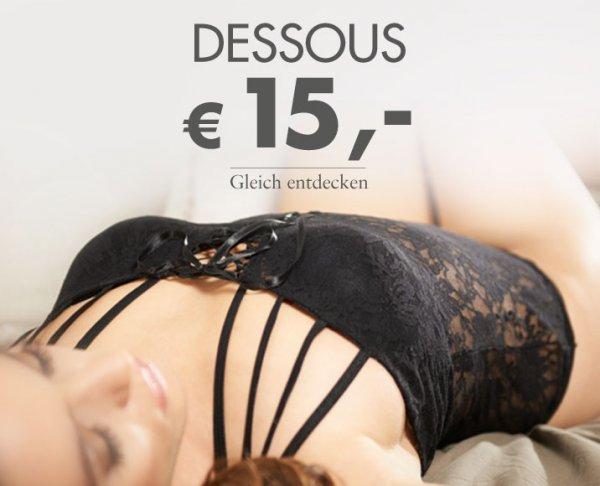 [BeateUhse] Sehr viele Dessous für 15€ + Gutschein keine VSK