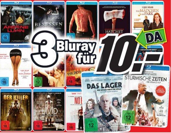 (Lokal Media Markt Dortmund )  3 Blurays für 10€ zb. Payback - Tag der Rache oder  3 3D Blurays für 25€