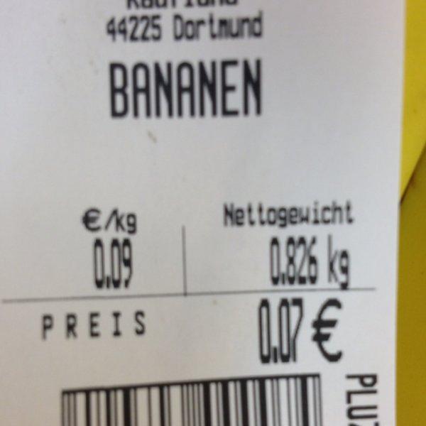 Bananen 0,09€ in Dortmund @ Kaufland