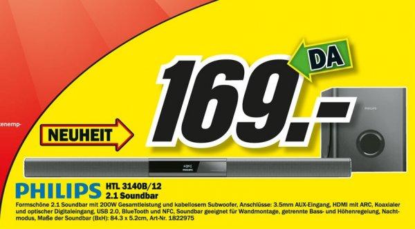 Philips HTL3140B Sounbar für 169€ Lokal [Mediamarkt Dortmund Oespel]