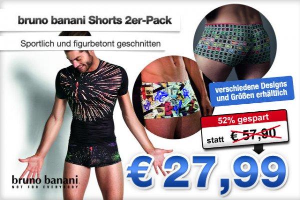 Deal des Tages: Ein Style für echte Männer: bruno banani Shorts - das 2er-Pack jetzt nur 27,99 statt 57,90 Euro!
