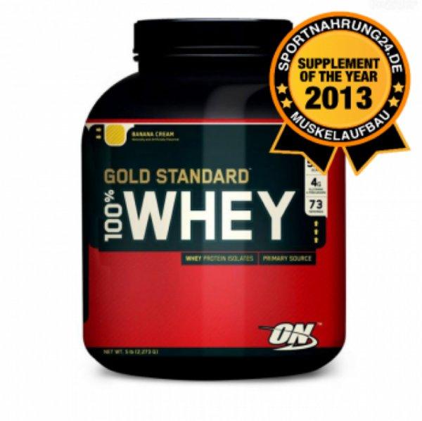 Optimum Nutrition 100% Whey Gold Standard Protein 2270g + 8% Cashback möglich