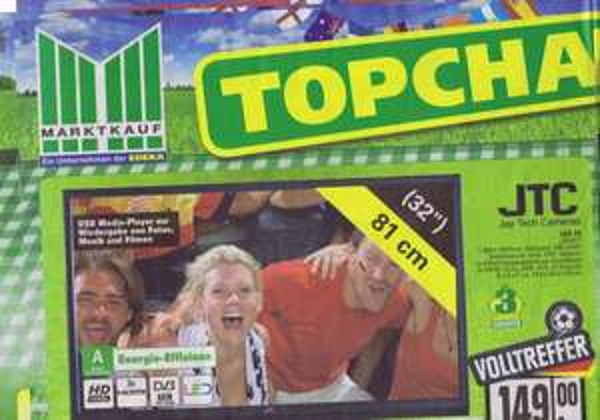 [LOKAL Marktkauf ] günstiger 32 Zoll LED TV  149€ mit 3 Jahren Garantie