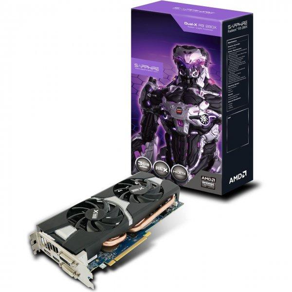 Sapphire Radeon R9 280X DUAL-X OC 3072MB GDDR5 (Nächster Preis: 231,79€)