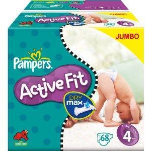 PAMPERS Active Fit Gr. 4 NUR 19,49€ / 136 Stück (=14Cent pro Stück) OHNE ABO bei Amazon!