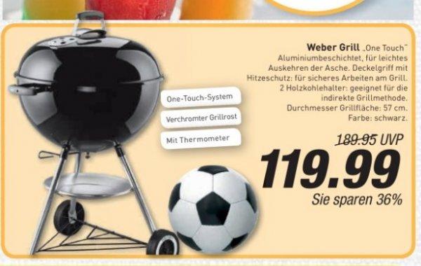 Weber Grill One Touch 57cm  Edeka Menden lokal  / nochmal -10% bei Hornbach Bundesweit