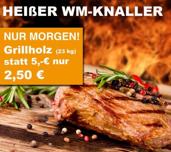 23 Kg Grillholz für 2,50€ statt 5,00€