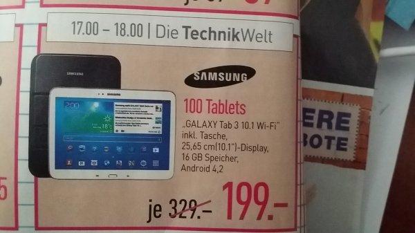 [Lokal Dodenhof] Samsung galaxy Tab 3 10.1 WiFi
