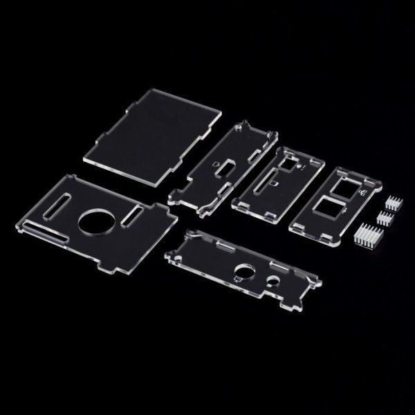 [eBay] [China] Crystal Case Gehäuse Transparent für Raspberry Pi inkl. 3 Heatsinks / Kühlkörpern