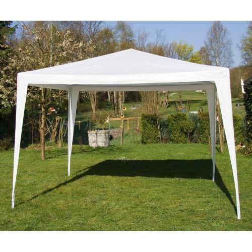 3x3 m Pavillon Festzelt Partyzelt weiß + 4 Seitenteile für 41,98