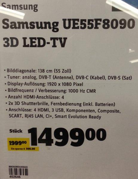 [Lokal München] Samsung UE55F8090 3D-LED-TV