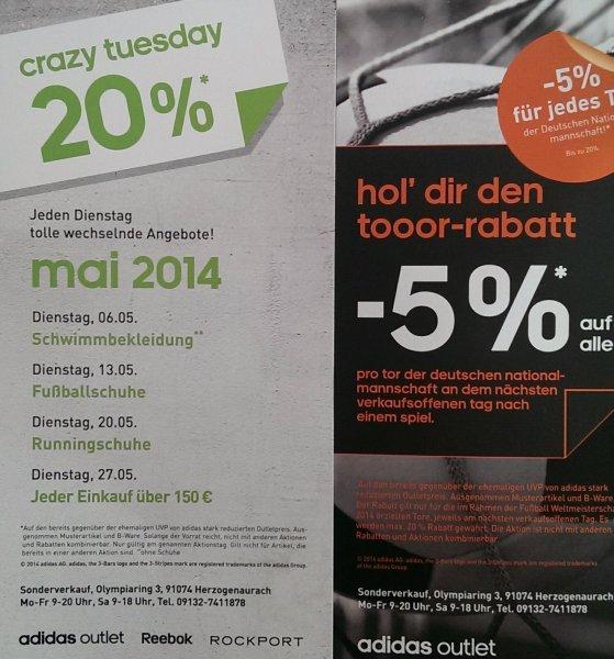 [Lokal Herzogenaurach] Adidas Outlet 5% für jedes Tor für Deutschland