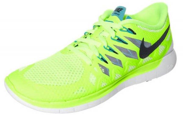 Für Damen: Nike Free 5.0 Natural Running Laufschuhe in volt/black/white/turbo green für nur 49,95€ bei zalando
