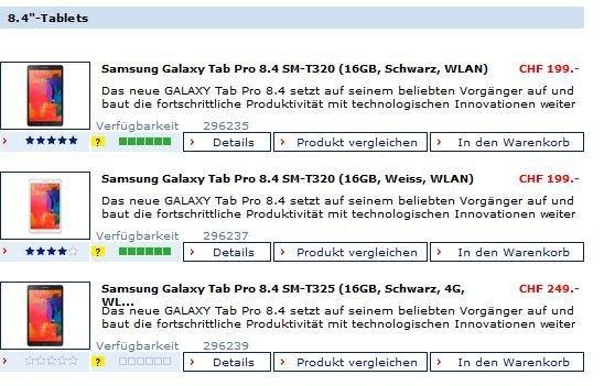 """[Schweiz - digitec.ch]50% - Galaxy Tab Pro's 8.4 - ab 163 Euro,   10.1"""" ab 205 Euro!"""