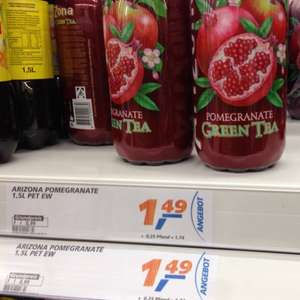 [Bundesweit] real - AriZona Ice Tea 1,5L für 1,49€ + Pfand (0,25€)
