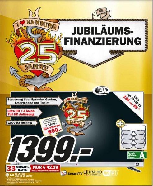 (Media markt Lokal) LG 55LA9659 4K UHDTV 1000 Hz Hamburg Schleswig-Holstein