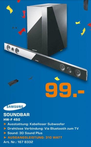 Samsung HW-F 450 2.1 Soundbar kabelloser Subwoofer für 99€ Lokal [Saturn Hennef,Sankt Augustin,(Siegburg,Troisdorf) Eröffnungsangebot]