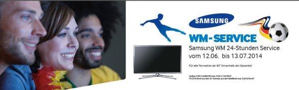WM | Samsung-TV's ab 40 Zoll: Kostenlose Reparatur innerhalb von 24h (Deutschland/auch WE) während Garantiezeit