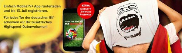 VODAFONE - MOBILTV APP - 100 MB für jedes Tor der deutschen Elf