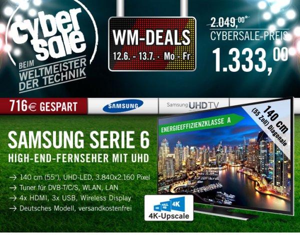 SAMSUNG UHD Fernseher UE55HU6900 für 1333€ @cyberport