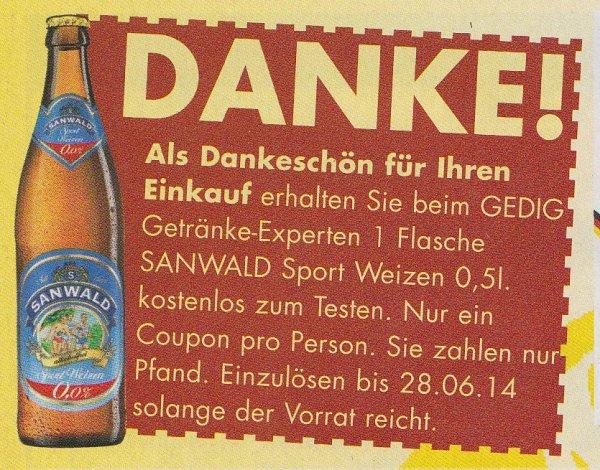 [LOKAL Ba-Wü.] GEDIG Getränke-Experte gratis Getränke zum Testen