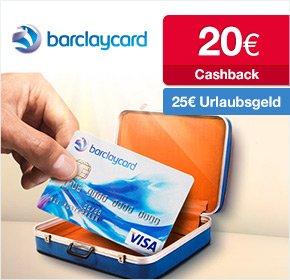 [QIPU] Barclaycard New Visa 25€ Urlaubsgeld + 20€ Cashback