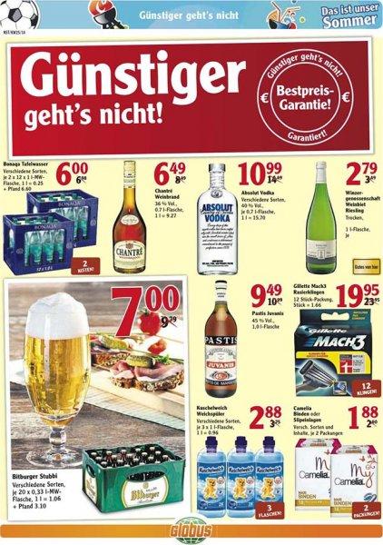 [LOKAL / Neustadt an der Weinstraße] Bitburger Stubbi bei Globus für 7 €