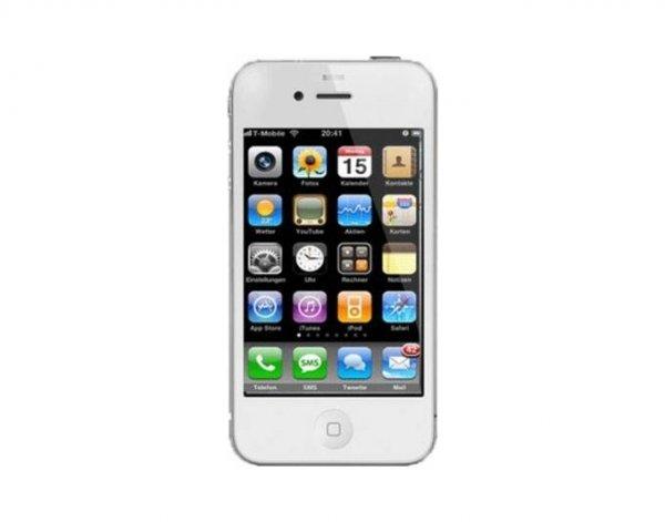Apple Iphone 4 8GB weiß + Gratis Panzer-Displayschutzfolie ohne SIM- oder Netlock