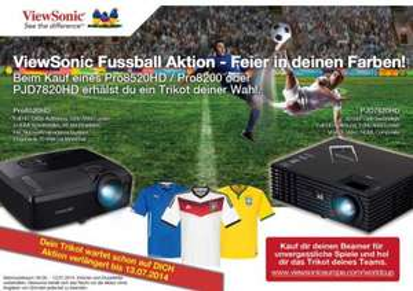 ViewSonic PJD7820HD - WeltMeister Paket inklusive Original - Fussball - Trikot nach Wahl