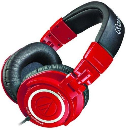 Audio Technica ATH-M50RD (Studio-) Kopfhörer mit Spiralkabel für nur 79,99 Euro. Versand frei!