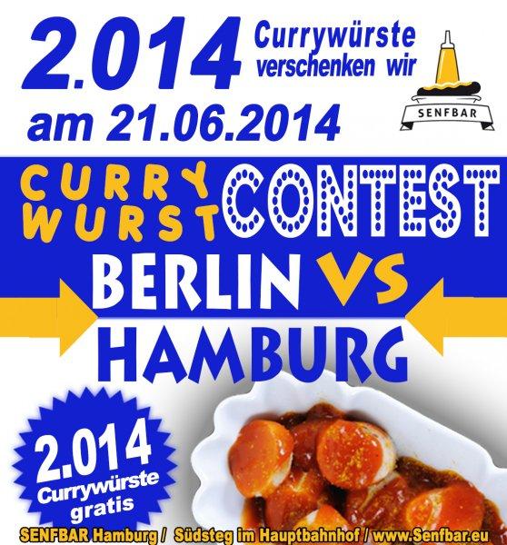 Sagehaften 2.014 Currywürstchen werden verschenkt von der Mopo (Hamburg)