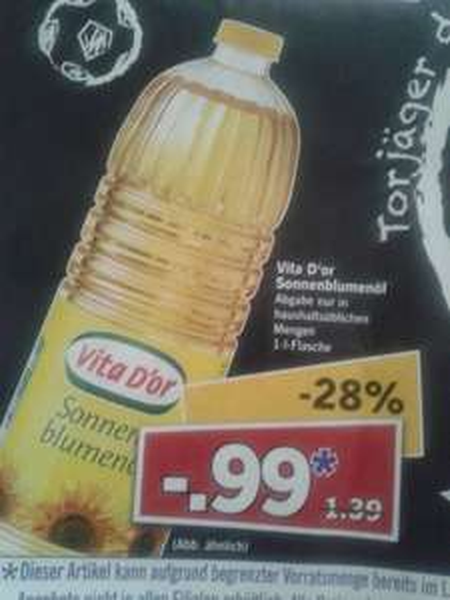 [Lidl Supersamstag am 28.6.2014] 1 liter Sonnenblumenöl