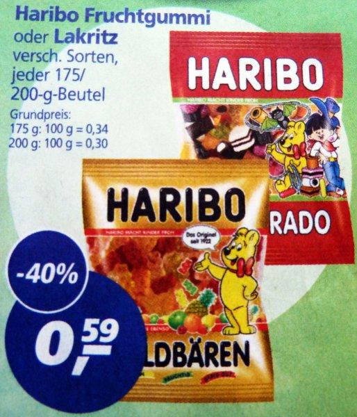 Haribo Fruchtgummi und Lakritz bei REAL für 0,59€