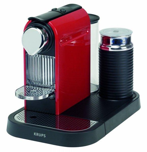 [Amazon WHD]  Krups XN 7305 Kapselmaschine Nespresso New Citiz und Milk / 1 L Wasserbehälter / mit Aeroccino / fire-engine rot
