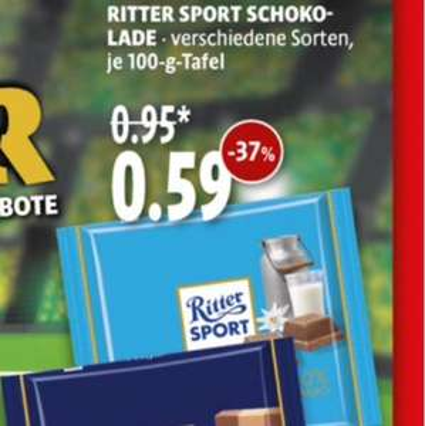 (Tengelmann bundesweit) Ritter-Sport Tafeln 100gr.
