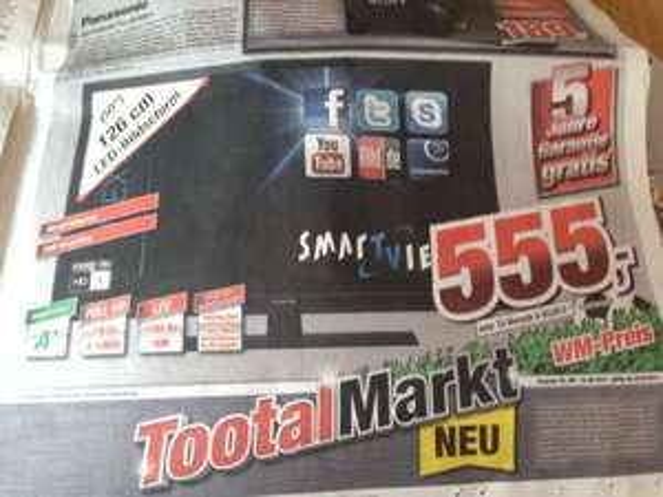 Panasonic TX-L50BLW6 für 555€ inkl. 5 Jahre Garantie (lokal Bremerhaven/Delmenhorst)