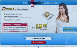 DeutschlandSIM Computerbild Aktion Allnet flat 19,90€