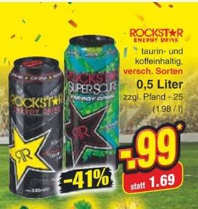 [Netto] Rockstar 0,99€ (zuzüglich Pfand ) verschiedene Sorten ab Montag 23.06.