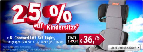 25 % auf  alle Kindersitze bei A.T.U. @offline