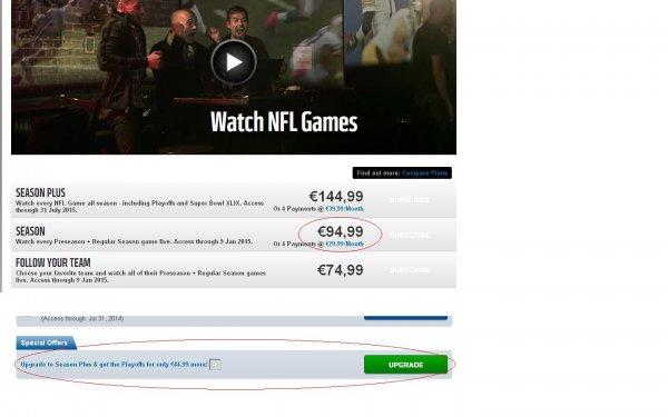 NFL Game Pass Season Plus für fast die Hälfte des normalen Preises