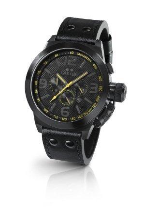TW-900 Steel Herren-Armbanduhr XL Canteen Style Chronograph Leder