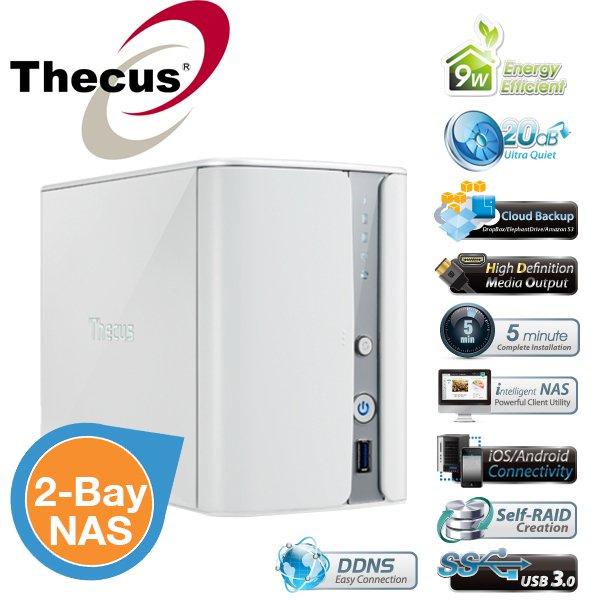 "Thecus N2520 - 2x 3,5"" NAS m. HDMI, Intel DualCore u. 1GB Ram für 135,90€ inkl. Versand"