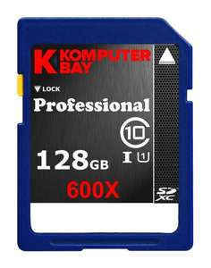 [amazon] Komputerbay 128GB SDXC Class 10 UHS-I 600X ... 43,00 EUR