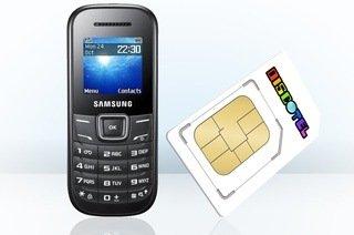 discoTEL Prepaid SIM-Karte mit 5 € Startguthaben inkl. Samsung E1200 Handy inkl. Versand für einmalig* 4,95 €