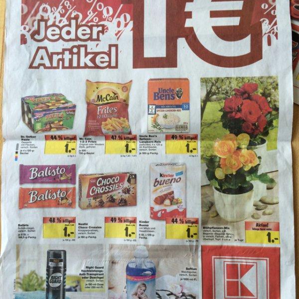 [lokal MD] Kaufland Gazi für 1,11€ und dann noch einige Artikel 1€ z.B. Iglo, Corny, Pril, Kerrygold
