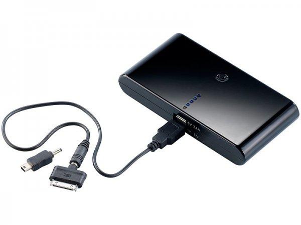 revolt Powerbank mit 12.000 mAh und 2 x USB-Ausgang (davon 1 x 2,1 A) für 22,49€